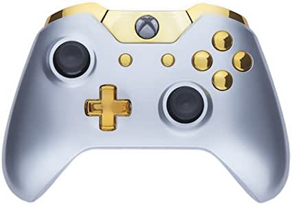 Xbox One Custom Controller - Gloss Silver & Gold [Importación Inglesa]: Amazon.es: Videojuegos