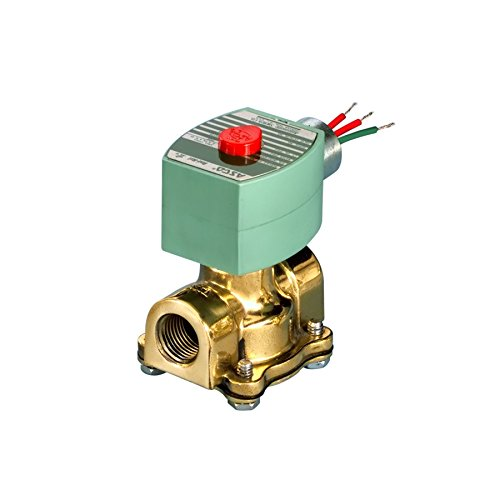 ASCO 8030G083-120/60,110/50 Brass Body Direct Acting Low Pressure Solenoid Valve, 3/4' Pipe Size, 2-Way Normally Open, Nitrile Butylene Sealing, 3/4' Orifice, 5.5 Cv Flow, 120V/60 Hz, 110V/50 Hz 3/4 Pipe Size 3/4 Orifice ASCO Valve Inc. 20027