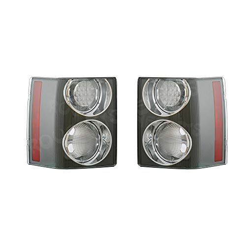 NEW For Land Rover Range Rover HSE 2002-2009 Pair Clear Rear Tail Brake Light Lamp (Gray) ()