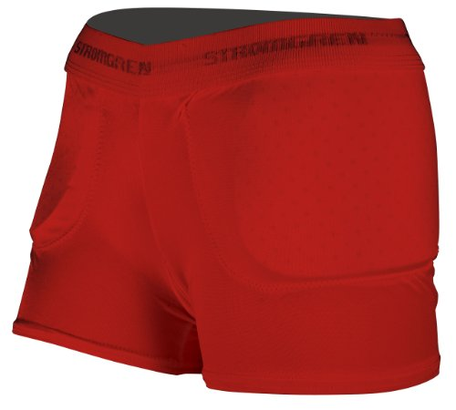 Stromgren Low Rise Padded Compression Volleyball Short (Red, XX-Large)