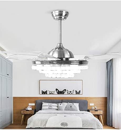 H.L Ventilador de Techo 42 Pulgadas con luz retráctil LED y 4 ...