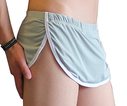 JnZeBly Men Funny Sexy Split Skirt Arpon Design Thong G-Strings Panties Grey L (The Best Panties For Men)