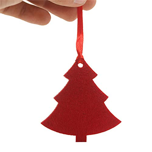 Willsa 10PCS Red Pendant Christmas Decoration Children's Home Decoration Gift ()