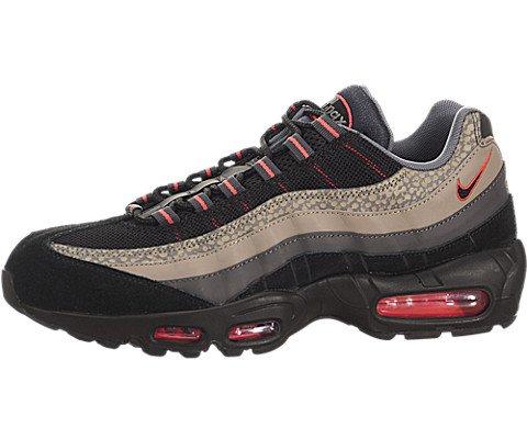 Nike Men's Air Max 95 Prm Black/Black/Medium Ash/Cl Grey ...