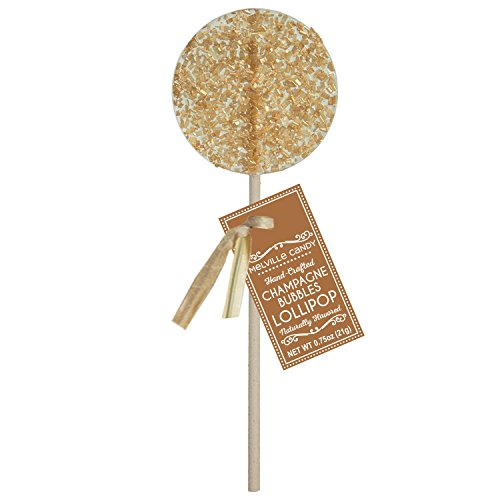 Champagne Bubbles Gourmet Cocktail Hard Candy Lollipop 100%