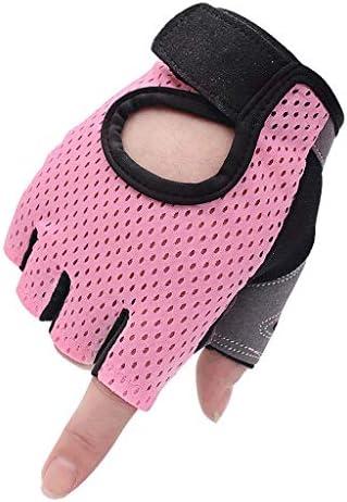 Deportes Guantes Fitness guantes de medio dedo hombres y mujeres ...