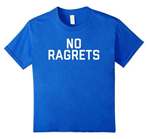 Kids No Ragrets Misspelled T-Shirt 10 Royal Blue