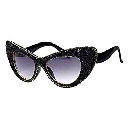 Crystal Cat Eye Sunglasses With Rhinestone