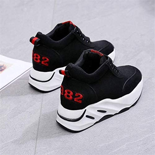 Yakoya Lady Height Increasing Casual Wedges Shoes Trainers Tenis High Heel Platform Sneakers Women Red