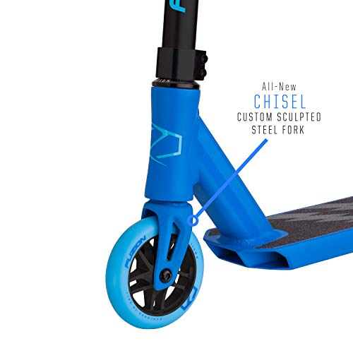 Fuzion Z250 Pro Scooter - All 4.37'' x 20.5'' Deck Dimensions - 110mm Aluminium Core Wheels - HIC Compression System -Chromoly T-Bars (2018 Blue) by Fuzion (Image #1)