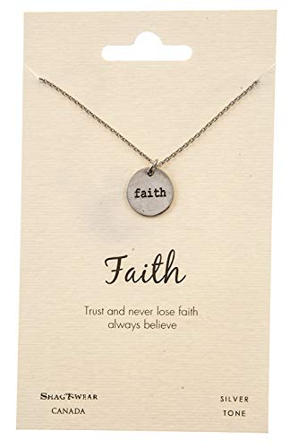 (Shag Wear Faith and Belief Inspirations Quote Pendant Necklace (Faith Medallion Pendant))