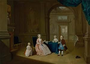 ARTHUR DEVIS niños en un Interior c1743 Inglés del siglo 18. Cartel de la reproducción en 200gsm A3 satén de seda lustre bajo tarjeta del arte