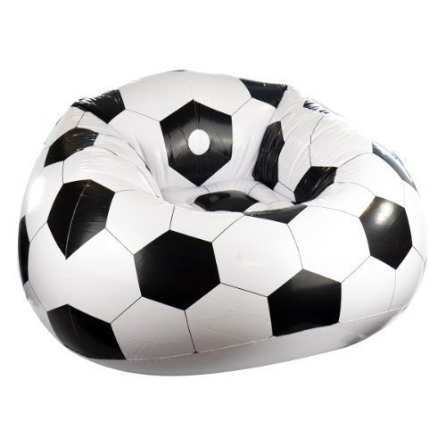 Inflatable Football Chair Sofa Lounger Seat Camping Gaming Pod Relaxing  Blow Up Shopmonk