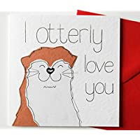 I Otterly Love You Valentine's Day/Anniversary/Birthday/Love Card