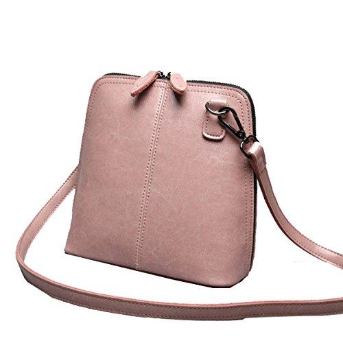 Conchas Yy.f Y Bandolera Pequeña Diagonal Bolsos De Moda Señoras De La Manera Bolso De Cuero Gran Estrella De 3 Colores Pink