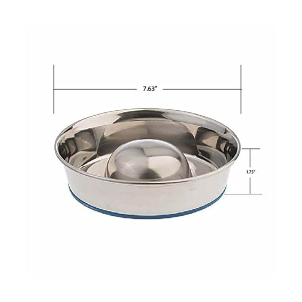 OurPets DuraPet Slow Feed Premium Stainless Steel Dog Bowl 4