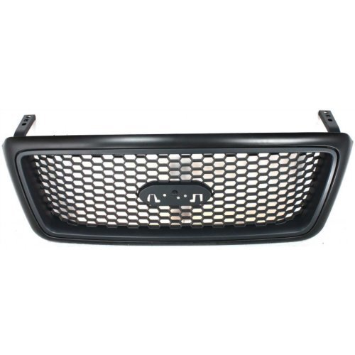 Garage-Pro Grille Assembly for FORD F-150 04-08 Honeycomb Insert Paint to Match Lariat Model New Body Style (F150 2005 Emblems)