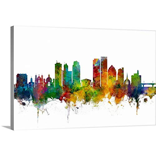 Dayton Ohio Skyline Canvas Wall Art Print, ()