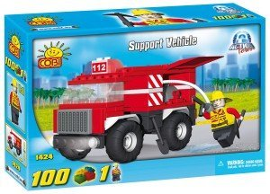New! COBI Action Town Support Vehicle 100 Piece Building Block Set