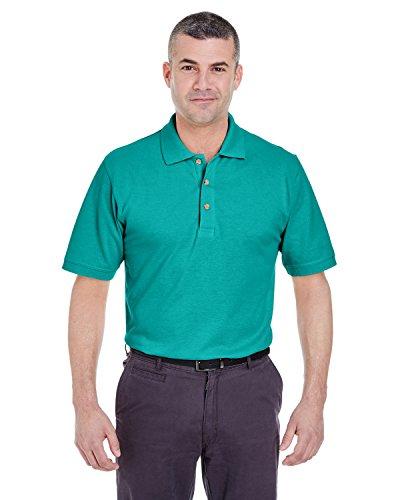 Jade Pique Polo Shirt - Ultra Club Men's Classic Pique Polo Shirt, 6XL, Jade