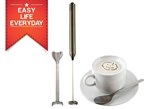 Zoom Handheld Milk Frother Stainless