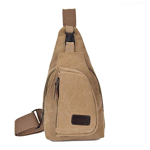 Chest Rucksack Bags Casual Gym Sling Bag Shoulder Backpack Bicycle Crossbody Pouch Travel Unbalance Canvas Khaki Waist Money Digital Pack Camera w5Fq5UR