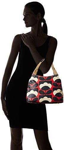 Orla Kiely Classic Zip Shoulder Bag, Sacchetto Donna