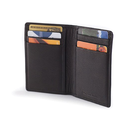 Osgoode Marley Cashmere Leather RFID Blocking 8 Pocket Card Case Wallet - Black ()