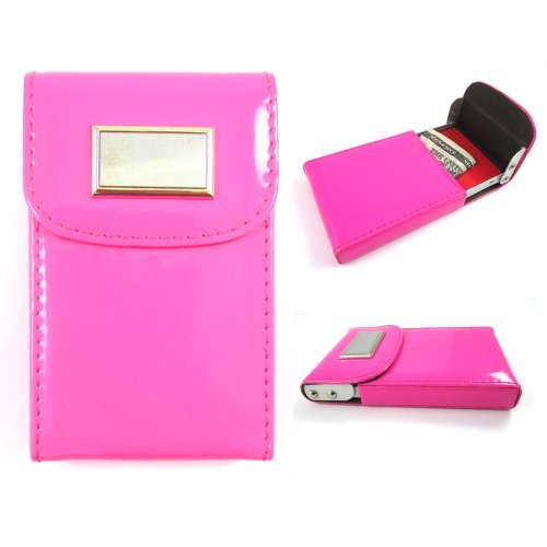 New Hot Pink Business Card Holder ID Credit Case Wallet Wome