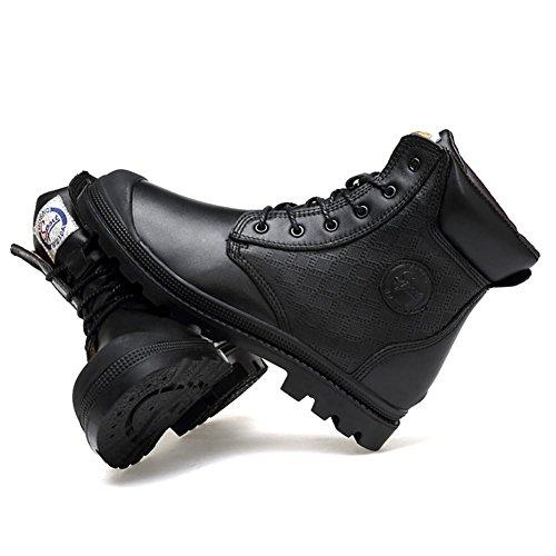 cima Martin E Pelle Boots plus collisione Anti Autunno In Pizzo NANXZ Uomo Inverno cotton Tempo Manuale libero All'aperto Black qEPwxgz