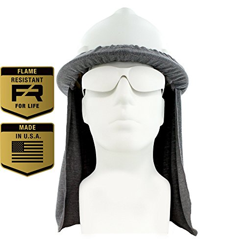Flame Resistant FR Hard Hat Neck Shade, Sol Shade, Lt. Gray, One Size Fits All Hardhats (Light Gray)
