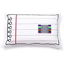 Doodle Pillowcase, Color Your Own Pillow Case, Coloring Pillowcase with Washable Fabric Markers