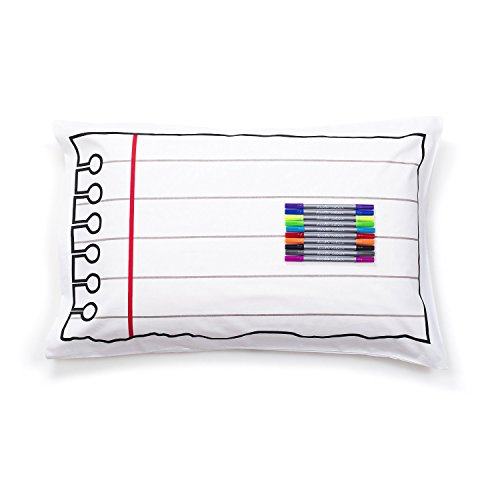 Doodle Pillowcase, Color Your Own Pillow Case, Coloring Pillowcase with Washable Fabric Markers (Pillows Fabric)