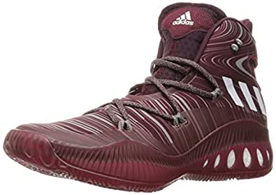 adidas Performance Men's Shoes | Crazy Explosive Basketball, Maroon/White/Cardinal, (4 M US)