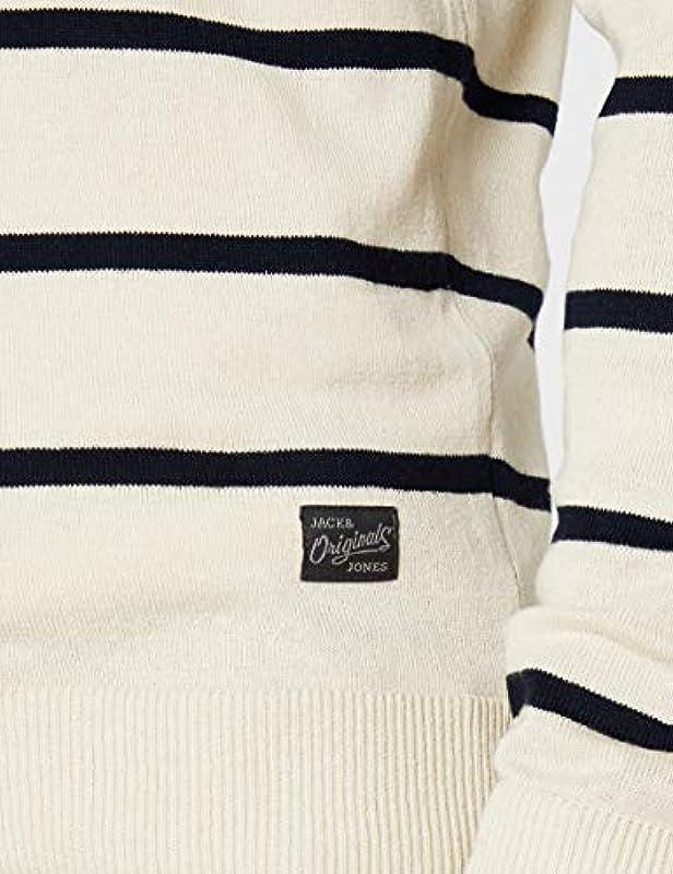 JACK & JONES męski sweter Jorbreton Knit Crew Neck: Odzież