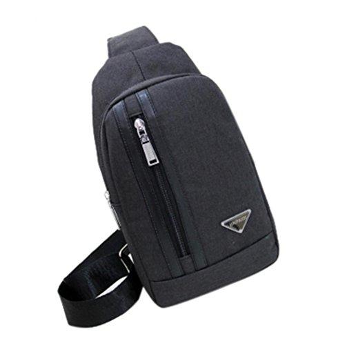 Bag Outdoor Sports, Unisex Canvas Bag Crossbody Bag Imbalance By Morwind (black) Black
