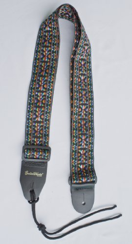 Guitar Strap RAINBOW WOVEN Nylon Fits All Acoustic Electric