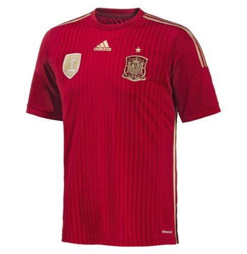 adidas Spain Boys 2014 FIFA World Cup Home Football Shirt-7-8 Years