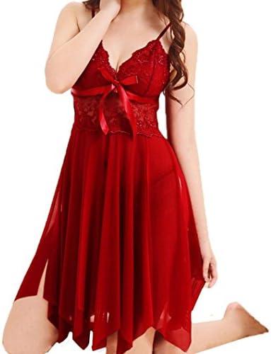 ieason lencería mujer, Plus tamaño Encaje Babydoll Ropa Interior Pijamas de lencería vestido