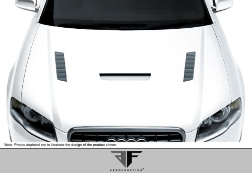 2006-2008 Audi A4 S4 2DR 4DR Wagon AF-1 Hood ( GFK ) - 1 Piece -