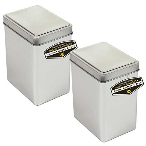 """Mighty Gadget (R) Rectangular Empty Snap on Lid Survival Tin Container for Geocaching or Survival Gear (2 Pack) - 2.875"""" x 2.125"""" x 3.75"""""""