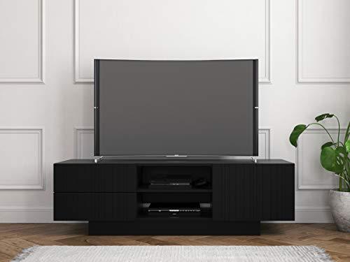 Nexera 115306 Galleri, Black 60-inch TV Stand, (Black 60 Tv Stand)