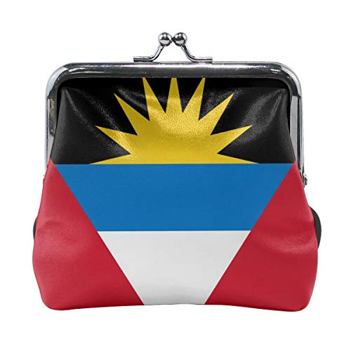 Girl Antigua And Barbuda Flag Buckle Coin Purses Vintage Wallet