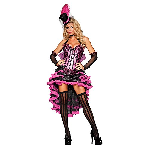 Girl In Sexy Costumes (Burlesque Beauty Adult Costume - Large)