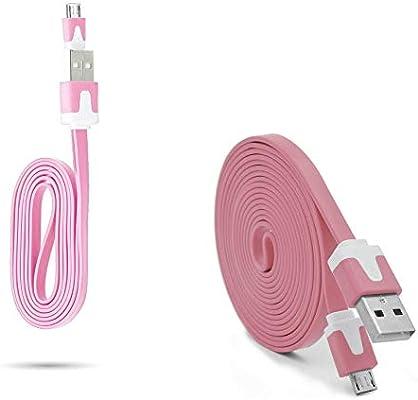 Pack Cargador para Alcatel Pop 4S Smartphone Micro USB Cable Noodle 3M + Cable Noodle 1M Android (Rosa): Amazon.es: Electrónica