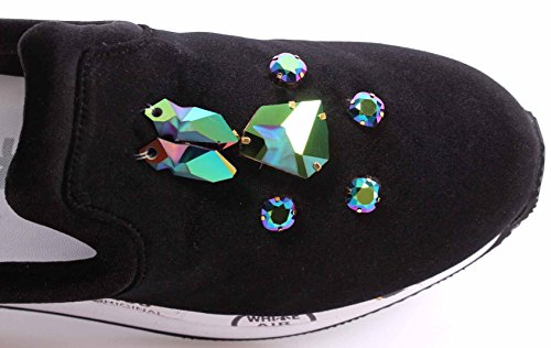 Zapatos PREMIATA Velvet 1758 ITA Mujer Slip Jewelry Takai On Black Sneakers New TARrxA