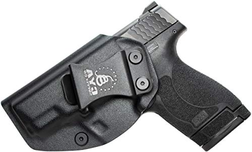 CYA Supply Co. IWB Holster Fits: Smith & Wesson M&P Shield 9MM/.40 S&W - Veteran Owned Company - Made in USA - Inside Waistband Concealed Carry left hand Holster (Smith & Wesson M&p Bodyguard 380 Review)