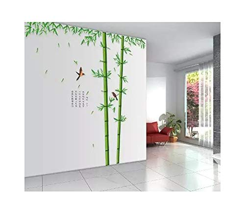 Alrens_DIY(TM) Green Bamboo Bird Wall Murals Art DIY Wall Stickers Home Decor Decal for Kid's Children Room Living ROM Bedroom Decoration