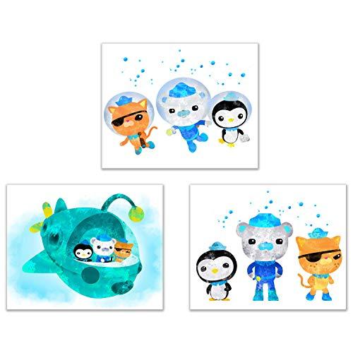 Summit Designs Octonauts Kids Wall Art Prints - Set of 4 (8x10) Poster Photos - Bedroom Decor]()