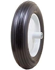 "Marathon 4.80/4.00-8"" Flat Free Tire on Wheel, 6"" Hub, 5/8"" Bearings, Ribbed Tread"